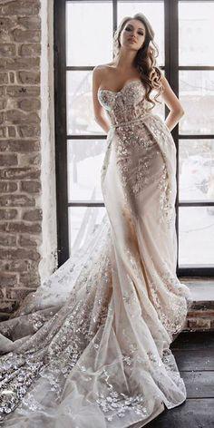 21 Amazing Sweetheart Wedding Dresses You Must See ❤️ sweetheart wedding dresses strapless with overskirt lace berta ❤️ Full gallery: https://weddingdressesguide.com/sweetheart-wedding-dresses/