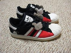 quality design 2cb7b 8ece2 DS ADIDAS X DISNEY SUPERSTAR J GS MICKEY MOUSE BLACK RED Sneakers Shoes M  6.5 Red