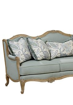 Shapely Cabriole Legs Similar To Other Pieces In Biltmore House Give This  Comfortable Sofa A Charming