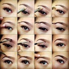 Step-By-Step Eye Makeup Tutorials: Eyebrows shaping and painting tutorial #eyemakeup; #makeuptutorial
