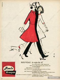 Jimic Tergal (Fabric) 1962 René Gruau