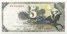 5 Deutsche Mark (Europa auf Stier)