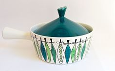"Lovely casserole dish from the ""Picknick"" range by Rorstrand of Sweden, designed by Marianne Westman."