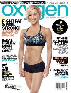 Jamie Eason Middleton on the February 2015 cover of Oxygen Magazine. #OxygenMagazine #AimFitness