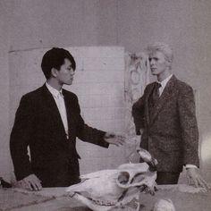 Ryuichi Sakamoto and David Bowie 80s.