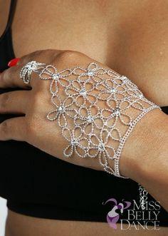 Belly Dance Rhinestone Slave Bracelet