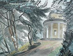 sugarmeows: The Adam Temple, Audley End, Essex – Edward Bawden (British, Light Painting, Impressionist, Graphic Illustration, Illustrators, Contemporary Art, Nature, Fine Art, Drawings, Prints