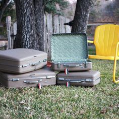 Classic White American Tourister Luggage Set | Vintage Suitcases ...