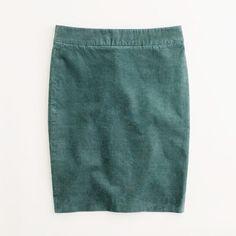 Factory pencil skirt in corduroy - Skirts - Factory's Women - J.Crew