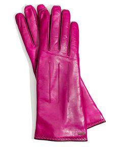 COACH BASIC GLOVE - Hats, Gloves & Scarves - Handbags & Accessories - Macy's