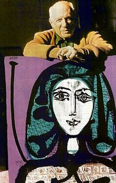 """""""Art is not the application of a canon of beauty but what the instinct and the brain can conceive beyond any canon. When we love a woman we don't start measuring her limbs."""" --Pablo Picasso"""