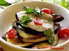 Joghurtos padlizsánsaláta Salad Recipes, Hamburger, Chicken, Breakfast, Ethnic Recipes, Food, Morning Coffee, Essen, Burgers