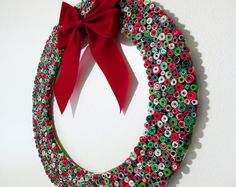 Upcycled Magazine Wreath Christmas Wreath Made from by gr3een