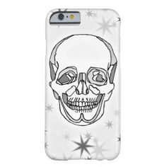 Gray Scale Skull and Stars iPhone 6 Case #grayscale #zazzle #tattooart #stars #skull #skeleton #iphone6 #iphonecases #whatjacquisaid