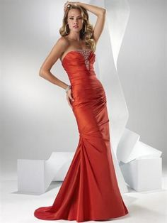 Weddingdressbraw.com offers high quality Sunkissed/Hot Berry Pink/Vivid Purple Mermaid Prom Dresses unit price of $ 99.99.