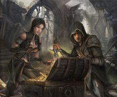 f Rogue Thief, m Half Elf Ranger Chest of Gold https://www.facebook.com/LeighsFantasyPage/photos/a.334789739914487.79702.334787456581382/798293656897424/?type=1