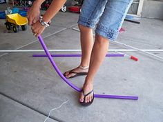 Homemade bows and arrows for kids using PVC pipe from Your Craft Me Up!