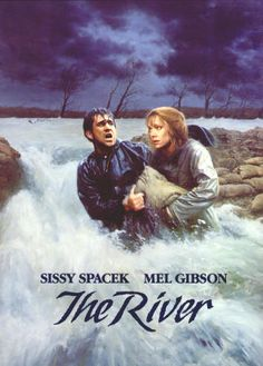 THE RIVER: 1984, Universal, 4-page color promotional card on heavy slick card stock, VF, size 9 x 12 inches, $4