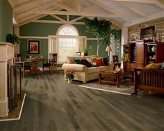 Maple Pewter hardwood floors by Armstrong