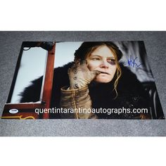 My Quentin Tarantino Autograph Collection: Jennifer Jason Leigh of The Hateful Eight! Autogra...