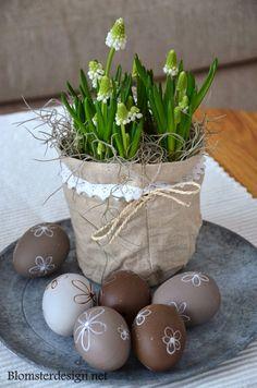BLOMSTERDESIGN.NET: Påskpynt, ägg och blomsterarrangemang