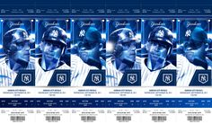 New York Yankees Tickets on Behance New York Yankees Tickets, Ticket Design, Season Ticket, Sports Graphics, Miami Marlins, Digital Signage, Graphic Prints, Graphic Design, Kansas City