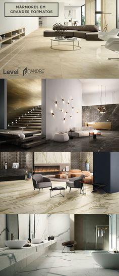 Revestimentos marmorizados em grandes formatos podem dar um up na sua décor. Confira os produtos das nossas marcas Stato dell'Arte e Fiandre.