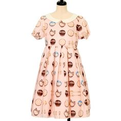 Cupcake print armhole Dress Lolita fashion Leur Getter | Rurugetta
