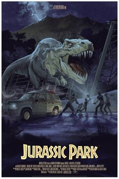 Jurassic World is one week away, and to help keep the hype machine going, some new artwork has just been unveiled from the Jurassic Park Mondo gallery show. Jurassic World Park, T Rex Jurassic Park, Jurassic Park Poster, Jurassic Park Series, Jurrassic Park, Park Art, Film Mythique, Horror, Dinosaur Art