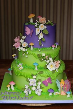 http://www.designyourownperfume.co.uk Tinkerbell Birthday Cake