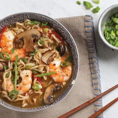 Gingery Broth with Shrimp and Green Onion - Louisiana Cookin