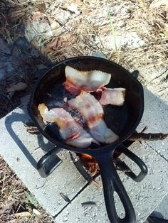 Rocket Stove Breakfast - sample of a rocket stove in use