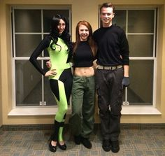 Shego, Kim Possible, and Ron Stoppable   33 Magical Disney Costumes Guaranteed To Win Halloween