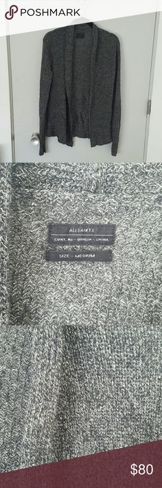 All Saints Speckled Cardigan All Saints open cardigan with a black and white speckled knit. EUC All Saints Sweaters Cardigans