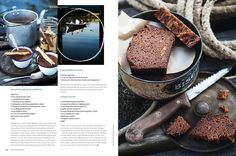 Cheesy leak and polenta madelines recipe. Honeycomb chocolate recipe. And earl grey tea cake recipe.
