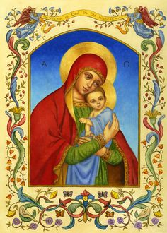 """""""Madonna And Child"""", by American artist and illustrator - Ruth Sanderson (1951 - )"""