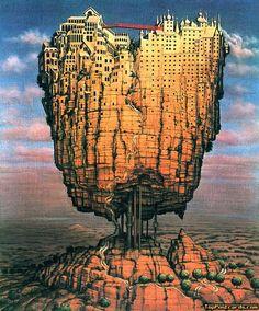Jacek Yerka,  Jacek Yerka -  Jacek Yerka - Illusions -  Jacek, Yerka, illusion, art, fine art,