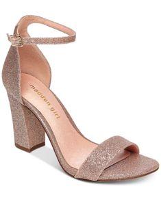 8152ca0cf05 Madden Girl Bella Two-Piece Block Heel Sandals - Gold 5.5M Low Block Heel