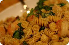 scallop, shrimp, bacon, garlic pasta... #you'rewelcome