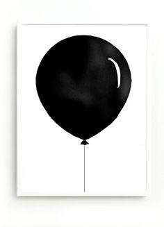 black balloon by PIECE OF LOVE http://pieceoflovestudio.blogspot.com/