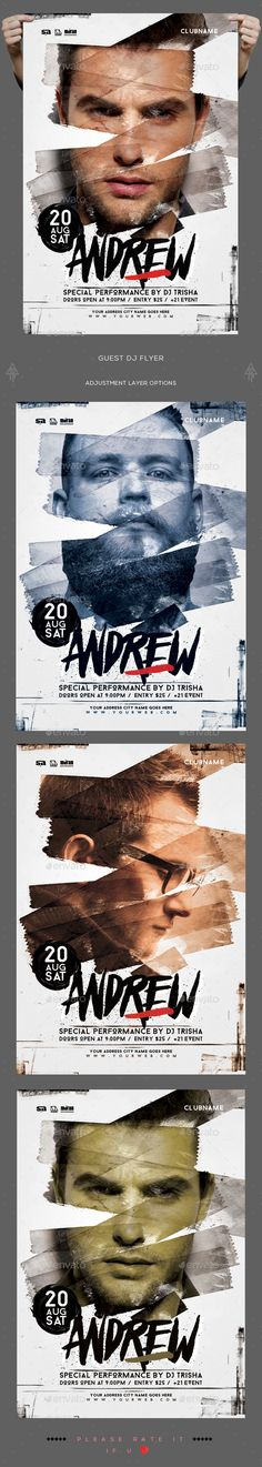 Guest Dj Flyer — Photoshop PSD #art #electronic • Available here → https://graphicriver.net/item/guest-dj-flyer/18916703?ref=pxcr