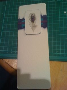 Peacock feather inspired handmade card by @HollyGoL1ghtly