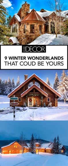 We wouldn't mind being snowed in at one of these gorgeous winter homes.