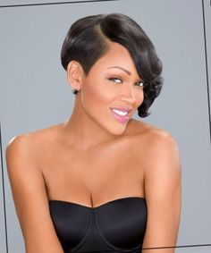 50 Most Captivating African American Short Hairstyles. Short Black Hairstyles More Short Bob Hairstyles, Girl Hairstyles, Pixie Haircuts, . African Braids Hairstyles, Braided Hairstyles, African American Short Hairstyles, Hairstyles Haircuts, 1920s Hairstyles, Hairstyles Pictures, Hairstyle Ideas, Meagan Good Short Hair, Style Afro