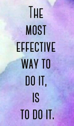 The most effective way