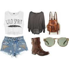 """""""comfy music festival look"""" by julianabelchior on Polyvore"""
