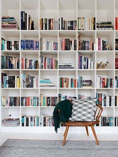 Floor to ceiling Bookshelf wall