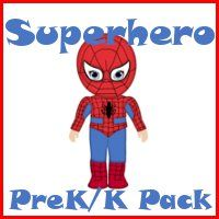 Superhero PreK/K Packs...Lacey, cute superhero stuff here (alphabet and math packs)...may be too easy for G?