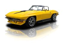 If you're one of those enthusiasts who enjoys being at the pinnacle of style, the top of the leader board and the front of the car show, this world class Corvette pro-tourer is the car you've been dreaming of! This slick C2 Sting Ray's body is a never-been-hit '67 and, as you can tell, the very talented craftsmen at Corvette Restorations AZ treated it to a lot of time and some amazing fiberglass work. The car's only noteworthy modifications include a couple of bolt-ons that combine both form…