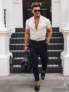 Mens Outfit Collection charming outfit styles for every mens to try in 2019 mens Mens Outfit. Here is Mens Outfit Collection for you. Mens Outfit good looking mens outfit styles you can wear now mens. Formal Men Outfit, Casual Wear For Men, Stylish Mens Outfits, Smart Casual Menswear Summer, Best Smart Casual, Best Mens Fashion, Mens Fashion Suits, Fashion Shirts, Classy Mens Fashion